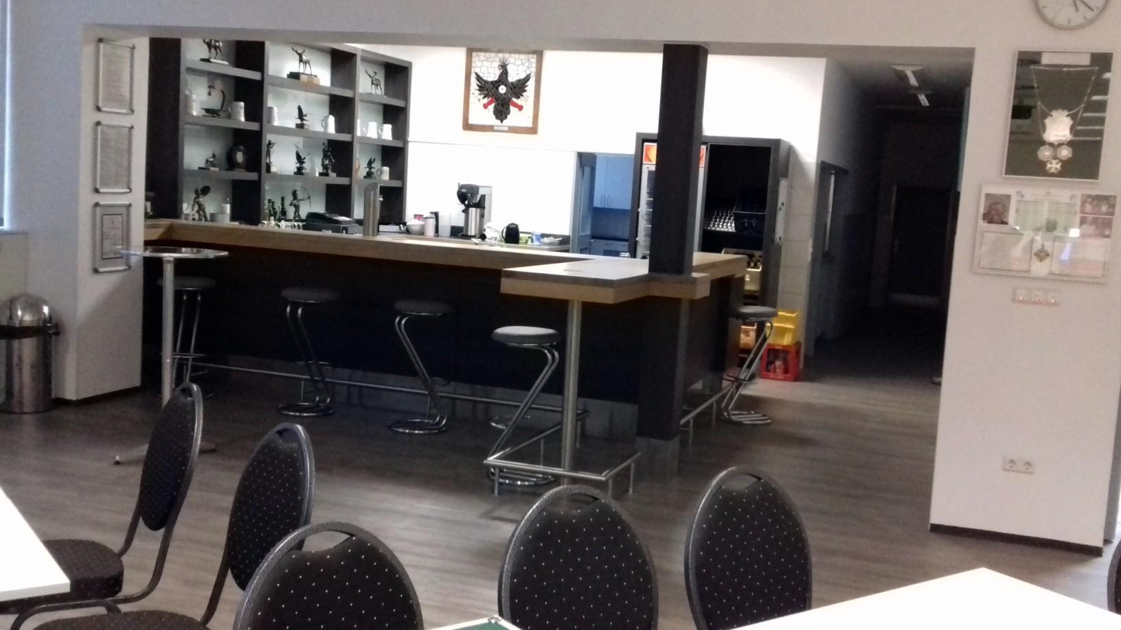 Foto der Ansicht unserer Theke im Vereinsheim.